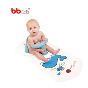 BBCare Non Slip Safety Play Seat with Extra Long Play Mat Blue Whale