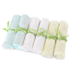 Brooklyn Bamboo Baby Washcloth Wipes 6 Pk Organic SOFT Large 10x10 Use With Favorite Bath Products and Towels