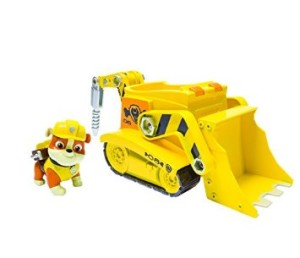 Nickelodeon Paw Patrol Rubbles Digg n Bulldozer Vehicle and Figure