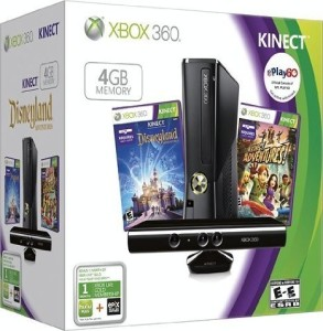 Xbox 360 4GB Console with Kinect Holiday Value by Microsoft