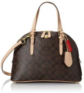 Coach Peyton Signature Domed Cora Satchel 26184 coach bag on sale