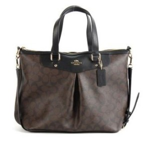 Coach Signature Pleasted Tote 34614 coach bags on sale bestsellers