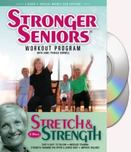 Stronger Seniors Stretch and Strength DVDs Chair Exercise Program Stretching Aerobics Strength Training Balance by Anne Pringle Burnell