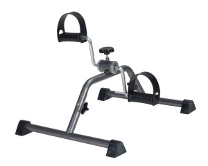 2 Drive Medical Pedal Exerciser with Attractive Silver Vein Finish