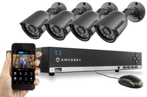 Amcrest AMDV960H4 4B 960H Video Security System 12 pieces