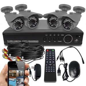 Best Vision Systems SK DVR DIY 8 Channel D1 DVR Security System with 4 800TVL IR Outdoor Bullet Cameras 500 GB Hard Drive and Remote Surveillance