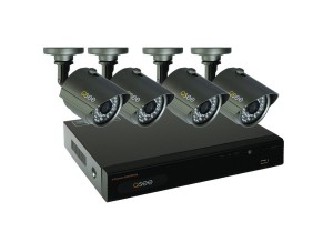 Q See 4 Channel Full D1 Surveillance System with 4 Cameras and Pre Installed 500GB Hard Drive
