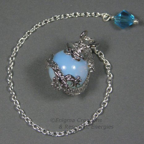 Opalite Dragon Sphere Crystal Pendulum