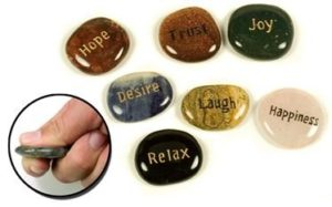 Engraved Inspirational Word Stones