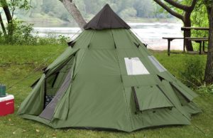Guide Gear 10 ft x 10 ft Teepee Tent top 10 camping tents