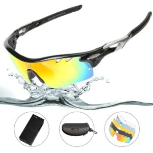 HODGSON Polarized Sports Sunglasses with 5 Interchangeable Lenses for Men Women for Cycling Running Glasses, Tr90 Unbreakable