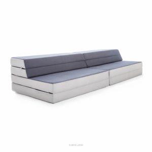 Lucid king twin xl convertible folding foam mattress sofa folds to 8 in twin xl mattress 4 in king mattress or a sofa