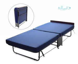 Milliard Mighty Rollaway Twin Bed with Foam Mattress - Built for Longest Life and Heavy Sleepers - Great for Frequent Guests, Bed & Breakfast Homes, and Commercial Use