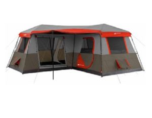Ozark Trail 16x16 Feet 12 Person 3 Room Instant Cabin Tent with Pre Attached Poles top 10 camping tents