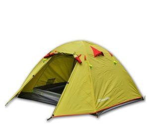 Weanas Waterproof Double Layer 2 3 4 Person 3 Season Aluminum Rod Double Skylight Outdoor Camping Tent