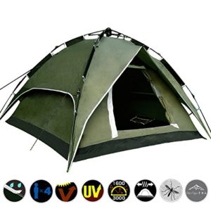 Yaheetech Outdoor Waterproof Automatic 4 Person Camping Family Tent top 10 tents