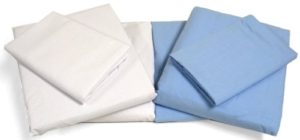 Cot Sheets (Fitted, Flat, Sets), 4 Piece Cot Sheet and Pillow Case Set - White- 1 cot sheet 33x 751 cot flat sheet 64x94, 2 pillow cases 20x30.