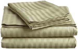 ITALIAN 3PC TWIN Sheet Set, STRIPED SAGE
