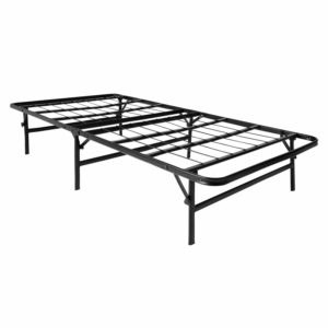 LUCID Foldable Metal Platform Bed Frame and Mattress Foundation - Twin