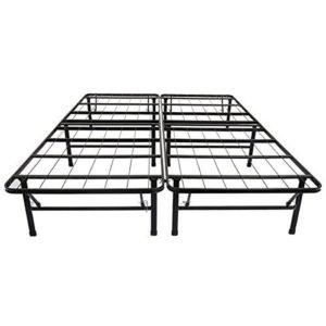 Olee Sleep Metal Platform Foundation Bed Frame (Twin) No Box Spring Needed By Sleeplace 14BF01T