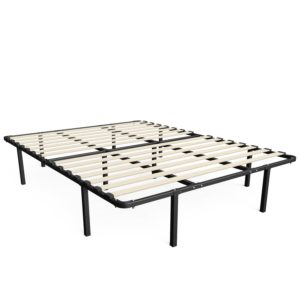 Zinus 14 Inch MyEuro SmartBase-Wooden Slat-Mattress Foundation-Platform Bed Frame-Box Spring Replacement, Twin