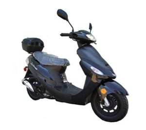 50cc Gas Street Legal Scooter TaoTao ATM50-A1 - Black