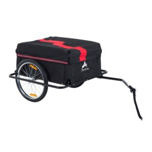 Aosom Elite II Bike Cargo Luggage Trailer - Red Black