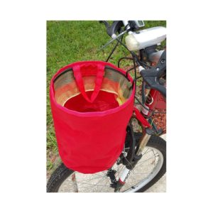 Clever Design Bike Basket Canvas Basket Converts To Carryall With Mesh Drawstring Top Closure Goes Everywhere With You and Handles Whatever You Need To Carry