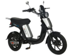 GIGABYKE GROOVE 48V 750W Eco-Friendly Electric Moped Scooter E-Bike- Silver
