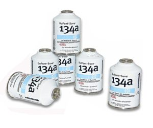 Six (6) 12oz Cans of DuPont Suva R134a Automobile Refrigerant Freon