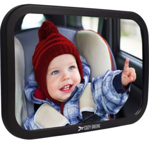 Cozy Greens® Baby Car Mirror Back Seat Rear-facing Infant In Sight