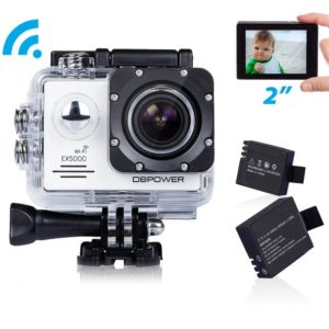 DBPOWER EX5000 14MP 1080P FHD Waterproof WIFI Action Camera Bundle