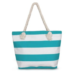 Domett Beach Bag for Women, Sturdy and Roomy Shoulder Tote, Stripe