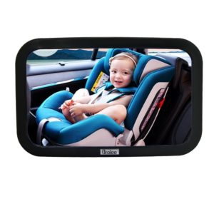 Droiee® Baby Back Seat Mirror [Shatterproof Glass] the Best Baby Car Mirror Rear Facing