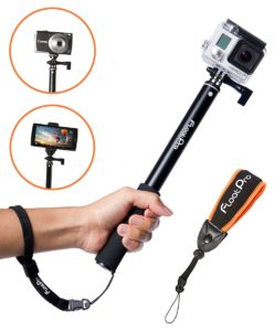 FloatPro 3-in-1 GoPro Selfie Stick. Floating Waterproof Extendable Monopod for GoPro, Camera,