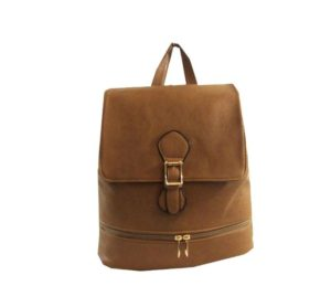 New Medium Vegan Faux Leather Backpack Purse Handbag