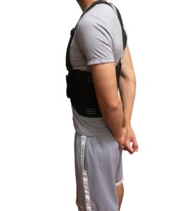 Posture Corrector Brace ­ Straightens Lower Upper Back ­ Comfortable Fit with Shoulder Support and Waist Belt ­ For Men Women