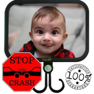 Safety Tiny Leaf Rear View Baby Mirror Shatterproof and Adjustable for Clearest Infant Reflection