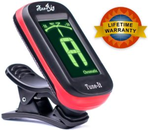 axerig-clip-on-chromatic-guitar-tuner-for-acoustic-bass-6-12-string-guitars-banjo-mandolin-ukulele-violin-cello-trumpet-brass-sax-flute-woodwinds-spare-battery