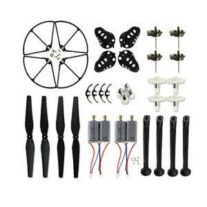 coolplay-spare-replacement-parts-kit-for-syma-x8-x8c-x8w-main-blades-landing-skids-frames-main-gears-main-motors-rc-quadcopter-black